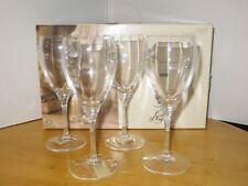 Cristal d'Arques Cabourg Wine Glass Set of 4 France Elegant Crystal Barware NOS