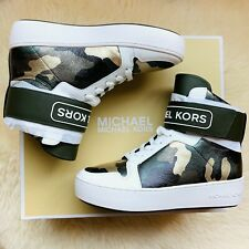 Brand New MICHAEL KORS  Women's TRENT Metallic Camo High-Top Sneaker Size US 5