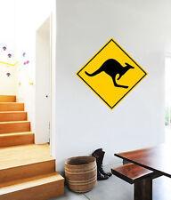 "Warning Kangaroo Zone Australia Wall Decal Large Vinyl Sticker 23"" x 23"""