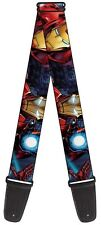 Marvel Comics The Avengers Iron Man Action Images Licensed NWT Guitar Strap