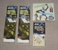 New 74 New Star Wars The Clone Wars Graphic Wall Decals Yoda Obi Wan Ahsoka More