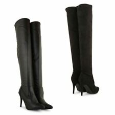 Faux Suede 100% Leather Boots for Women