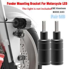 M8 2sets Motorcycle Headlight Brackets Mount Bike Sport Tail Light Holder Fender (Fits: Bourget's Bike Works)