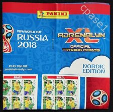 Panini World Cup 2018 Checklist poster Nordic Edition - Adrenalyn XL FIFA Russia