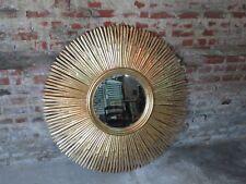 Glace / miroir soleil en bois sculpté doré Diamètre 120 cm