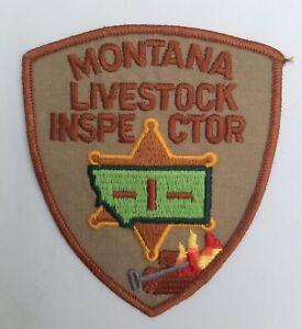 Montana State Livestock Inspector old shoulder patch