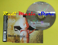CD Singolo MARILYN MANSON Disposable Teens EU INTERSCOPE 2000 no lp mc dvd(S15*)