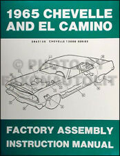 1965 Chevelle Assembly Manual 65 Malibu SS El Camino Chevy Chevrolet Factory