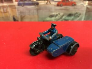 Dinky Meccano RAC  Motorbike , sidecar and rider die cast model