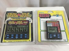 Radica Lot of 2 Hand Held Electronic Games Pocket Slow Draw Wild Poker Dueces