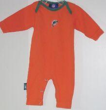 NFL REEBOK Size 0-3 Months Boy Orange Long Sleeves Bodysuit Romper