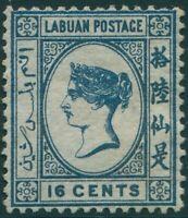 Malaysia Labuan 1879 SG10 16c blue QV MLH