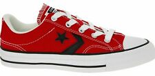 CONVERSE STAR PLAYER OX Canvas Trainers, Red/Black, Unisex UK 4 EU 36.5