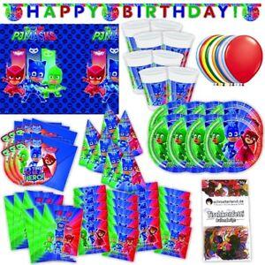 PJ Masks Party Set XL 73-teilig für 6 Gäste PJ Masksparty Geburtstag Deko