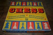 1960'S CODEG PRODUCTS CHESS SET WITH CARVED WOODEN PIECES, COMPLETE