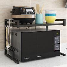 Kitchen Organiser Adjustable Metal Shelving Rack Microwave Shelf Holder AuStock