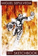 Miguel Sepulveda SIGNED 2013 Comic Art Sketch Book Batman Green Lantern Comic Art