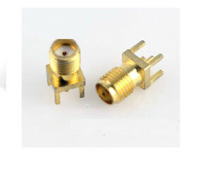5pcs RF Coaxial Connectors , SMA Vertical Type Female Seat Connector, 180°