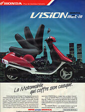 PUBLICITE ADVERTISING   1988    MOTUL HONDA   la motomobile VISION MET-IN