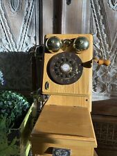 Vintage Redial Spirit Of St Louis Touch Tone Phone Brass Wood