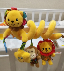 Rattle Toy Hanging Mobile Soft Infant Stroller Crib Rattles Toys Gifts