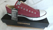 NEW in box Converse All Star Slip On Ox trainers Size 7 EU 40 in maroon
