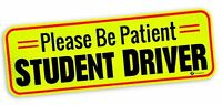 Zone Tech Car Bumper Magnet Please Be Patient Student Driver Reflective Decal