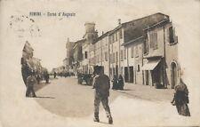Rimini - Corso d'Augusto - anno 1920 - Viaggiata (820)