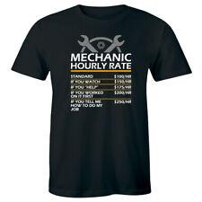 Mechanic Hourly Rate Men's T-Shirt Funny Humor Gift Tee