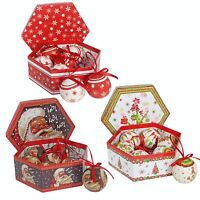 Christmas Tree Decoration - Box of 7 Polyfoam 60mm Baubles - Choose Design