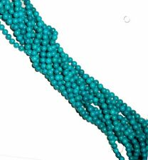 8mm Tibet Turquoise Dyed Round Beads 40cm 15
