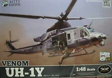 "1/48 Bell UH-1Y VENOM ""HUEY""  Model Kit by Kitty Hawk Models"