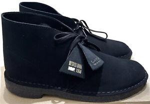 Clarks Originals, Desert Boot, Black Suede, Size 6.5 UK