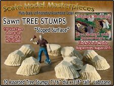 Scale Model Masterpieces Sawn Tree Stumps-Sloped Surface (10pcs) Multi Scale