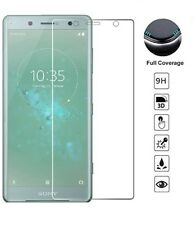 Sony Xperia XZ2 [3D GLASS] FULL Coverage LCD Screen Protector Cover Guard Clear