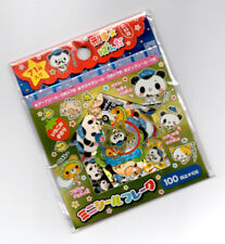 Rare Kamio Japan Panda Police Kawaii Stickers Sack sticker flakes Vintage A