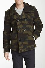 NWT Slate &Stone Military Great Jones Wool Knitted Camouflage Mens Jacket Coat L