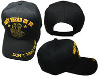 Don't Tread On Me Black Yellow Snake Acrylic Black Embroidered Trump Hat Cap
