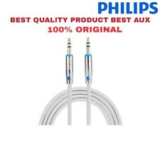 Philips Cable Stereo Aux Cable / Audio Cable 3.5mm to 3.5mm for Car & Home