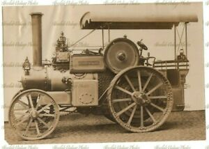 OLD PHOTO CLAYTON & SHUTTLEWORTH STEAM TRACTOR / TRACTION ENGINE VINTAGE 1908