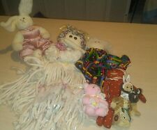 Lot of 7 DOLLS Mixed Collection Plush Toys