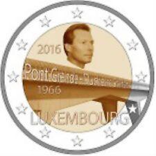 Luxemburg  2016  2 euro commemo Pont Grande Duchesse  UNC uit de rol !!