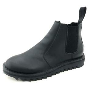 Genuine Rollers Womens Smooth Leather Slip On Boot Black