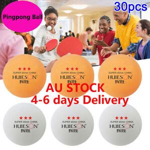 30pcs 3-Star Pingpong Ball Pong Balls 40mm Entertainment Table Tennis Balls AU