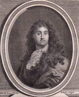 Portrait XVIIIe Charles Louis Simonneau Dessinateur Graveur Orléans