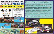 ANEXO DECAL 1/43 CITROEN C4 WRC S.LOEB & D.SORDO R.AUSTRALIA 2009 2nd & 3rd (01)
