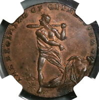 1790s NGC MS 63 SPENCE Cain & Abel Conder 1/2 Penny Middlesex DH 768 (18091702C)