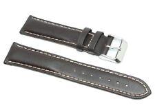 Cinturino orologio vera pelle testa moro c. contrasto 20mm compatibile breitling