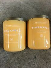 Lot of 2 DW Home Candle Pineapple 15.9 oz x 2  NEW