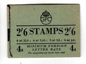 BOOKLET KING GEORGE VI 2/6d  SHILLING BD20 OCTOBER 1952  CAT £50.00
